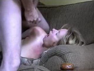 Handcuffed mature sucks cock and gets slammed