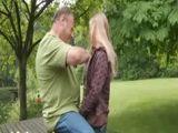Pervert Granddad Fucked Teen In Public Park