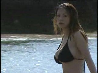 Busty Asian Alone On The Beach