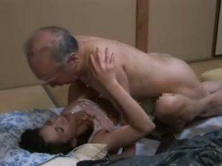 Japanese Grandpa Ravishing Teen Neighbors Daughter On The Floor