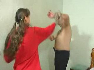 Girlie gets nailed for spoiling her papa's clothes (www.brawlincest.com)