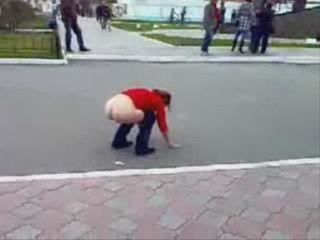 Wasted Chick Cant Control Herself In A Full Crowded Street