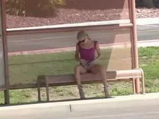 Kylie Nude Play at Bus Stop