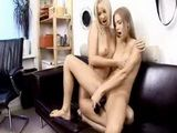 Two amateur lesbian lovers licking