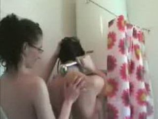 Girlfriends Playing In The Shower