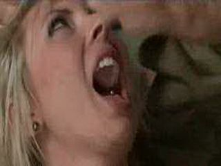 Blonde babe gives a blowjob under duress
