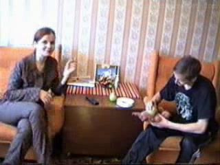 Horny Russian Mom Fucks A Boy