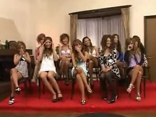 CFNM with outgoing Japanese girls who playfully examine black cock