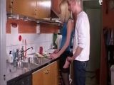 Teen Blonde Nailed In The Kitchen