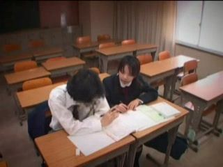 Japanese Handjob In Classrom With Boyfriend