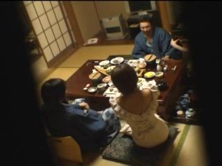 Japanese Couple Separated For Little Privates After Dinner
