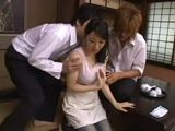 Young Asian Mom Abused By Her Stepson And His Friend