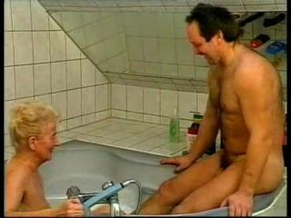 Granny Fucked Her Sons In Law In The Bathroom