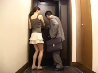 Japanese Naive Wife Opened The Door To The Stranger Guy