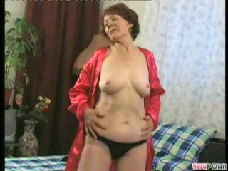 Hot Granny Masturbating And Fucking Teen Boy 1