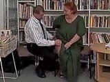 Principal Fuck Librarian Granny at School Library