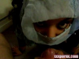 Covered Arab Teen Gets Messy Facial Over Her Hijab