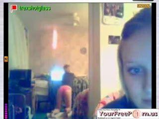 Cute Girl Rubs It On The Webcam