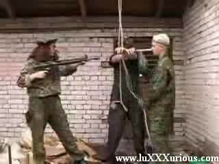 Two nasty young military bitches forced guy to sex