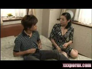 Japanese Boy Beg Uncles Wife On Balcony To Help Him Lose Virginity