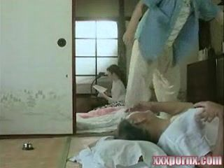 Japanese Sick Grandpa Missthreated By Youngsters In His House