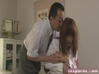Japanese Principal Violates Newbie Teacher at his Office