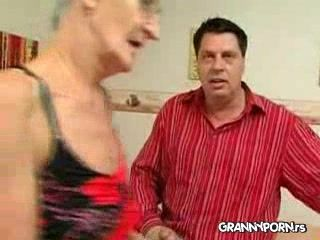 Old Drunk Skinny Granny Gets Her Teeth Off To Suck Better and Gets Fucked