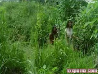 Amazon Tribe Savages Fuck American Woman In Jungle
