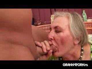 Immodest Guy Fuck Wifes Old Grandma