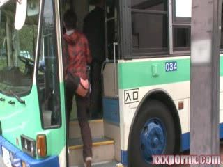Japanese MILF Groped and Violated In Bus