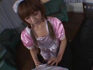 Frightened Japanese Maid Meets Boss Desire