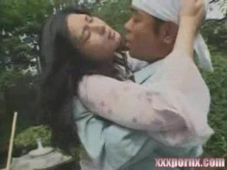 Japanese MILF Punished For Giving Low Salary To Her Gardener