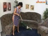 Mature Housewife Interrupted In House Cleaning And Fucked