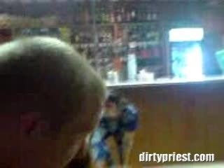 Girl Falls Hard On Her Face While Dancing Naked In A Bar