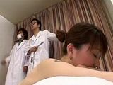 Japanese  Doctors Scoped Fucked Pussy Fool Of Sperm