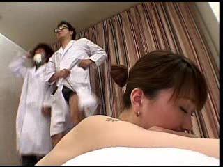 Japanese  Doctors Scoped Fucked Pussy Fool Of Sperm