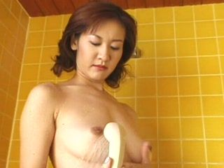 Japanese Wife Jerking Cock In Bathroom