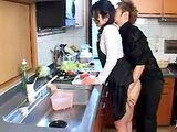 Japanese Boy Blackmail and Fuck Uncles Wife Chinami Sakai in kitchen