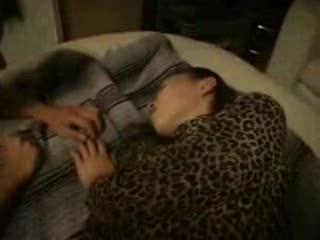 Sleeping Japanease Mom fucked by Blackmen