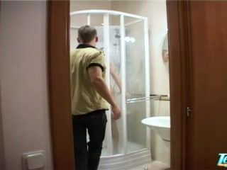 Teen Girl Taped In Boyfriends Bathroom