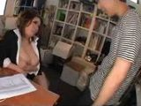 Japanese Lady Boss Violates Poor Newbie Employee Boy at the Office