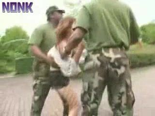 American Black Marines Violating and Gangbang Poor Japanese Girls Caught Wandering Through Their Military Base