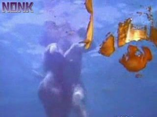 Underwater Anal While Swimming In Deep Sea