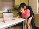 Japanese Mom Punished Good From Dad's Friend For Playing With Dildo