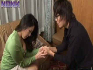 Jerking Husband's Nephew Young Cock Is So Wrong, This Japanese Aunt Knows That Well