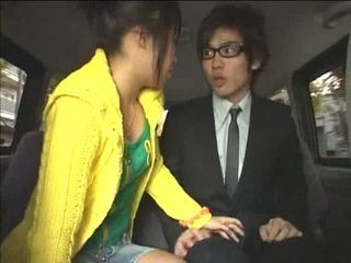 Taking Boss's Daughter Home In a Limo Can Be Difficult Task Sometimes – Uncensored Japanese Teen Blowjob and Cum Swallow
