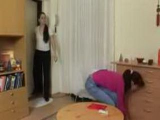 Older Sister Caught Younger Smoking And Punished Her