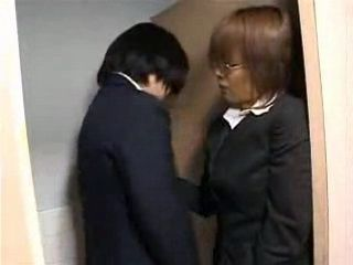Kinky Japanese Mature Teacher Abuse Student Boy In School Toilet