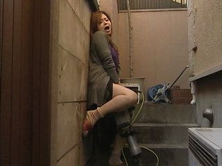 Japanese Housewife Satisfy Her Self With Husband's Drilling Machine