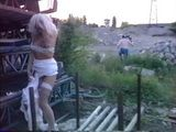 Mature MILF Boss Blonde In Lingerie Fucked By Unsatisfied Workers On Building Site - Fuck Fantasy